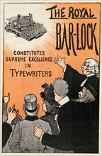 The Royal Bar-Lock typewriter, 19th century. Artist: Unknown