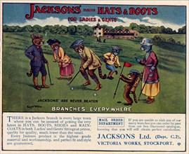 Jacksons Hats & Boots, 1910s-1920s. Artist: Louis Wain
