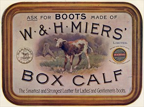 W&H Miers Box Calf - boot leather, 19th century. Artist: Unknown
