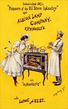 Albion Lamp Company - 'Albionette' oil stove, 19th century. Artist: Unknown
