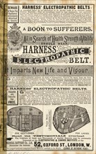 Harness Electropathic belt, 1890s. Artist: Unknown