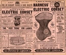 Harness Electropathic belt, 1892. Artist: Unknown