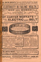 Dr Carter Moffat Electric Body Belt, 1910s. Artist: Unknown