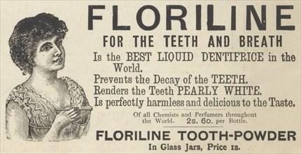 Floriline Liquid Dentifrice, 1893. Artist: Unknown