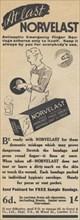 Norvelast Antiseptic Bandages, 1937. Artist: Unknown