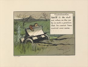 Motoritis, or other interpretations of the Motor Act. Control Over Car  Article IV (2), 1906. Artist: Unknown