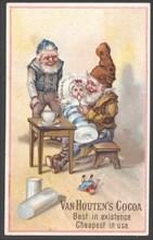 Van Houten's Cocoa, 1890s. Artist: Unknown