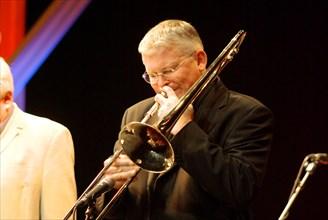 Mark Nightingale, Brecon Jazz Festival, Powys, Wales, 2008. Artist: Brian O'Connor