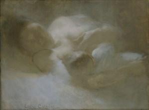 'Maternity', c1880s. Artist: Eugene Carriere.