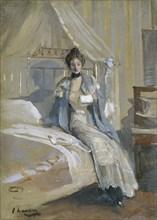 'The letter', 1900-1908. Artist: Sir John Lavery.