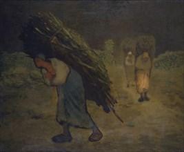 'Winter - The faggot gatherers', 1868-75. Artist: Jean Francois Millet.