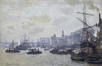 'The Thames at London', 1871. Artist: Claude Monet.