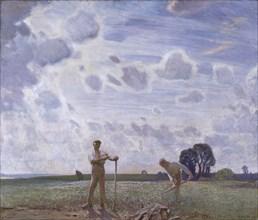 'In the fields in June', 1914. Artist: George Clausen.