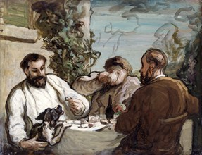 'Lunch in the country', c1868. Artist: Honore Daumier.