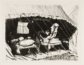 'Casualty clearing station in France', 1917. Artist: Claude Allin Shepperson.