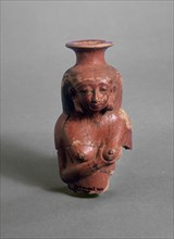 Polished red ware vessel modelled as a nursing woman, XVIIIth Dynasty (c 1540 BC-c1292 BC). Artist: Unknown.