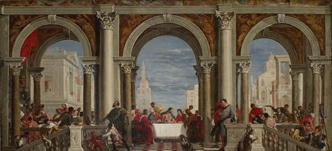 The Feast in the House of Levi, 1720-1769 Artist: Francesco Fontebasso.