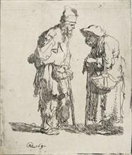 Beggar Man and Beggar Woman conversing, 1630. Artist: Rembrandt Harmensz van Rijn.