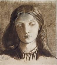 Elizabeth Siddal, 1855. Artist: Dante Gabriel Rossetti.