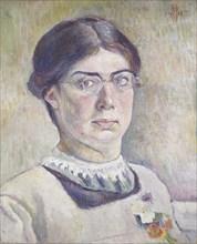 Self-portrait, 1913. Artist: Orovida Camille Pissarro.