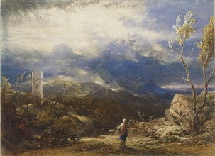 Christian Descending into the Valley of Humiliation (from 'The Pilgrim's Progress'), 1848. Artist: Samuel Palmer.