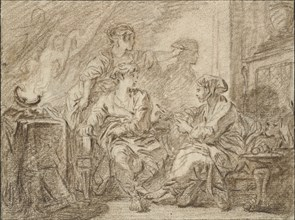 The Invention of Drawing, mid 18th century. Artist: Francois Boucher.