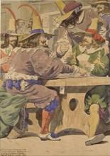 Gaming, mid 19th century. Artist: Richard Dadd.
