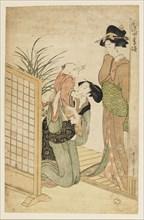 Mother, child, and nurse, c1800. Artist: Kitagawa Utamaro.