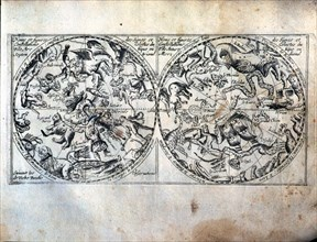'Heavenly Globes', name and figures of the celestial constellations and signs of the Arctic and ?
