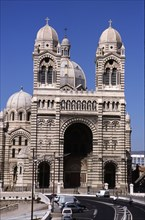 Largest cathedral of the city of Marseille 'Nouvelle Major', 19th century, Byzantine Roman style,?
