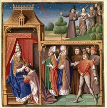 Charles II the Bald is crowned Emperor of the West (875-877) and vision of a sword in the cycle. ?