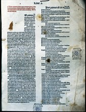 Canon of Medicine, page of Book I of the Latin edition 1490, work by Avicenna.