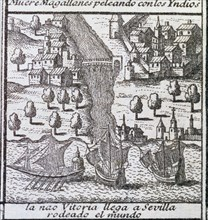 The ship Victoria on arrival to Seville in 1522, it was one of the five ships of Magellan's exped?