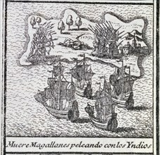 Death of Magellan to intervene in the fight between natives in one of the islands of the Philippi?