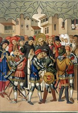 Scene at St. Vincent Ferrer (1350-1419), a Dominican theologian and preacher Spanish sides Centel?