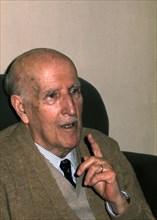 Vicente Aleixandre (1898-1987), Spanish poet, Nobel Prize for Literature 1977, photo, 1977.