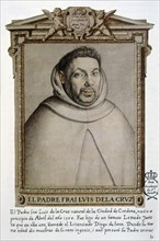 Fray Luis de la Cruz (1562 - ), Spanish religious, facsimile drawing.
