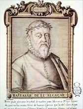 Baltasar de Alcázar (1530-1606). Spanish poet. Portrait in the 'Libro de descripción de verdadero?