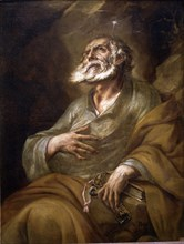 San Pedro, one of the Twelve Apostles, the first bishop of Rome, where he died.