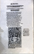 Cover of the Latin edition printed by Jean Petit in Paris in 1505, 'Libre d'Amic e d'Amat' (Song ?