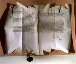 Bull of Innocent VIII naming Torquemada as the General Inquisitor.