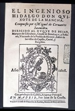 Vida y hechos del Ingenioso Caballero Don Quijote de la Mancha' (Life and facts of the Ingenious ?