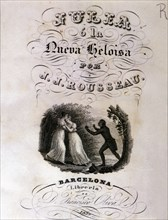 Cover of Julia or the New Heloise by Rousseau published in 1857.