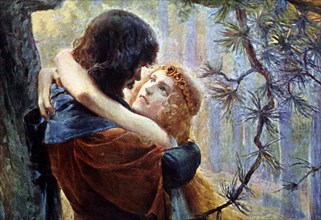 Tristan and Isolda, literary characters of medieval legend that symbolize the  impossible love.