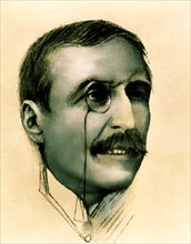 Jose Maria Eça de Queiroz. (1845-1900), Portuguese novelist, drawing, 1899.