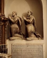 Sepulchre of poet Garcilaso de la Vega (1501-1536) in the chapel of the University of Toledo.