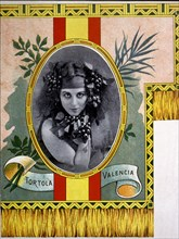 Carmen Tortola Valencia (1882-1955), Andalusian dancer, advertising lithographic proof, 1910s.