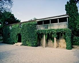 Retaining Pazo birthplace and died Rosalia de Castro (1837-1885), poet Galician.
