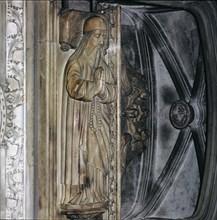 Tomb in the church of San Francisco de Palma de Mallorca with the recumbent statue of Ramon Llull?