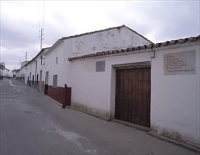 Birthplace now a museum of Francisco de Zurbarán (1598-1664), Spanish Painter born in Fuente de C?